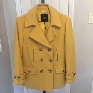 Talbots Saffron Pea Coat
